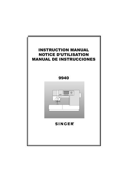 singer quantum futura instruction manual
