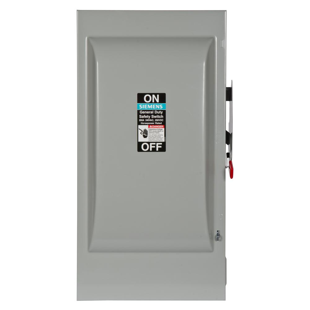 siemens 3 phase manual safety switch