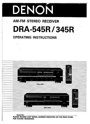 denon dra-375rd user manual
