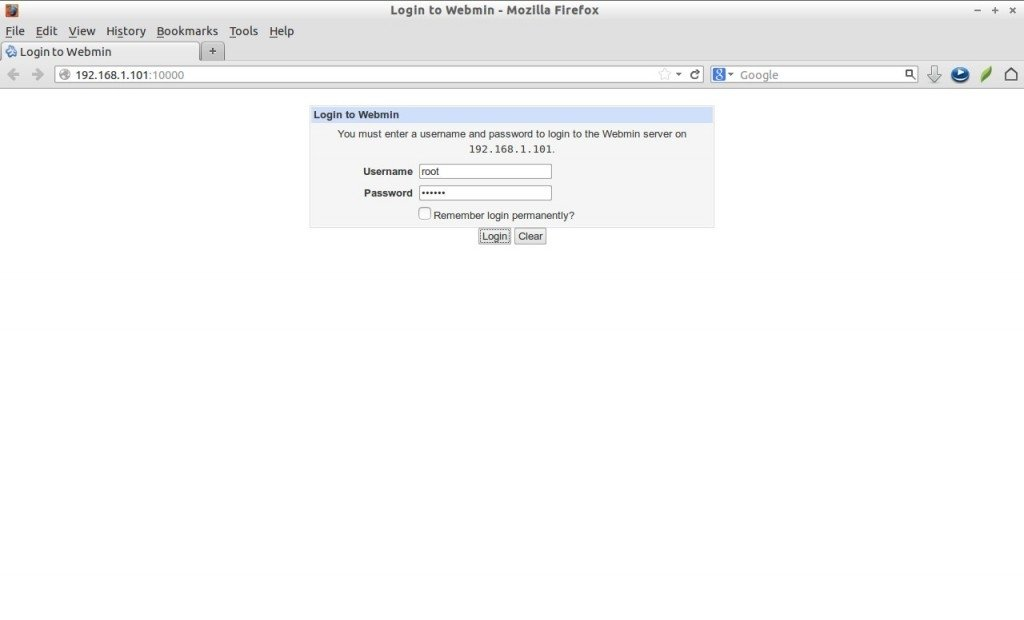how to manually start webmin