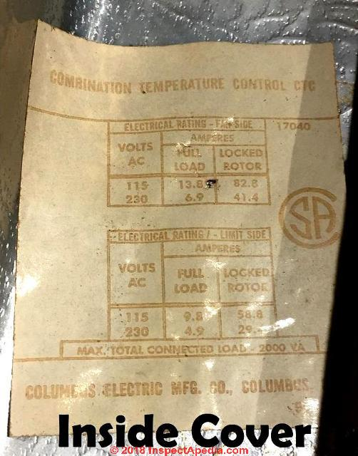 columbus electric kt-110 ventilation thermostat manual